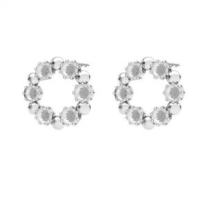 Runden ohrringe für Swarovski, silber 925, ODL-00704 KLS 14,2 mm (1088 PP 18)