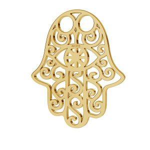 Hamsa hand 8K gold anhänger LKZ-30001 - 0,30 15x20 mm