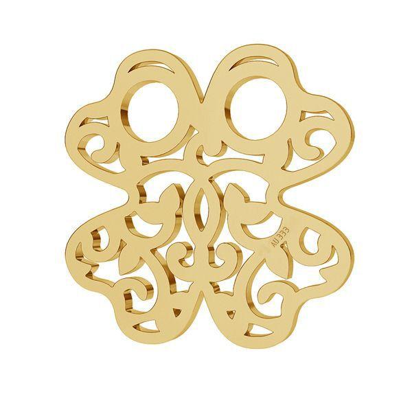 Klee 8K gold anhänger LKZ8K-30004 - 0,30 13x13 mm