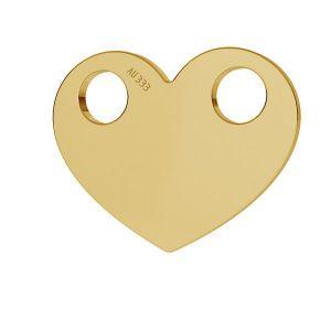 Herz anhänger*gold 333*LKZ8K-30007 - 0,30 9,4x12 mm