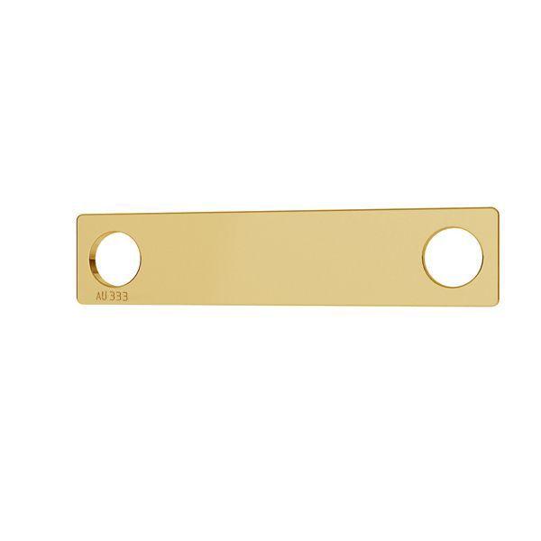Rechteck anhänger*gold 333*LKZ8K-30008 - 0,30 5x23 mm