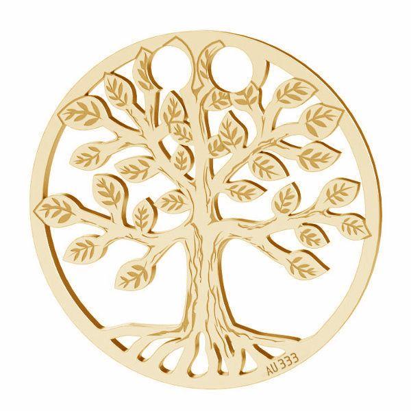Baum des lebens anhänger*gold 333*LKZ8K-30017 - 0,30 19x19 mm