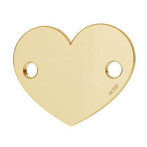 Herz tag anhänger*gold 333*LKZ8K-30018 - 0,30 10x12 mm