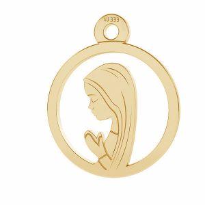 Unser Dame Medaillon anhänger*gold 333*LKZ8K-30021 - 0,30 10,5x12,9 mm