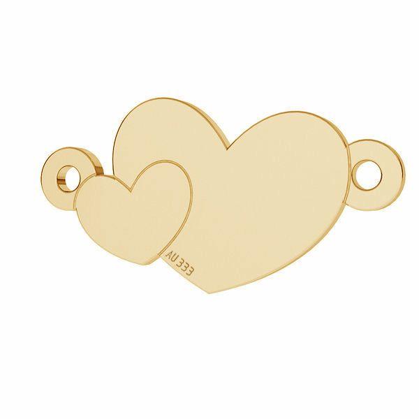 Zwei Herzen anhänger*gold 333*LKZ8K-30022 - 0,30 8,7x17 mm