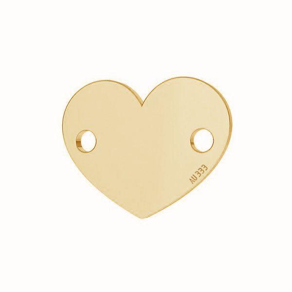 Herz tag anhänger*gold 333*LKZ-30029 - 0,30 6x7,5 mm