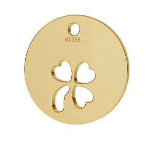 Klee anhänger*gold 333*LKZ8K-30009 - 0,30 9,5x9,5 mm