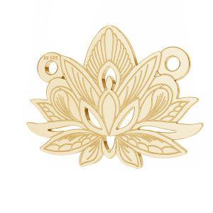 Lotus blume anhänger*gold 585*LKZ14K-50050 - 0,30 12,3x15,8 mm