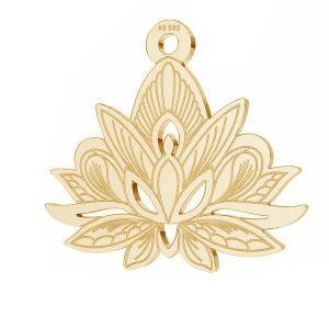 Lotus blume anhänger*gold 585*LKZ14K-50049 - 0,30 14,4x15,8 mm