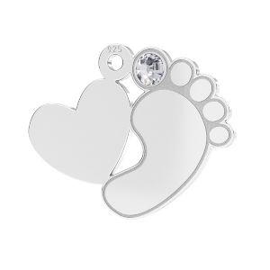 Babyfüße anhänger*silber silber 925*LKM-2646 - 0,50 13,2x16,5 mm