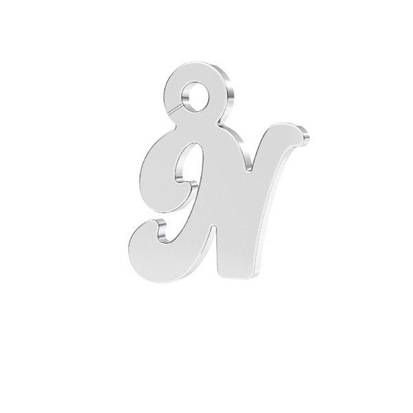 Schreiben R anhänger*sterling silber 925*LK-0076 - 0,50 7x9,5 mm