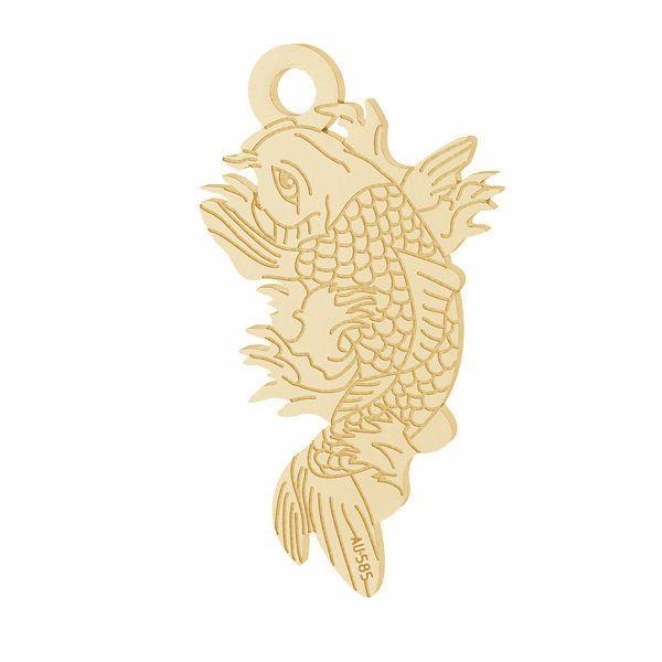 Fisch Koi anhänger*gold 585*LKZ14K-50090 - 0,30 10,6x19,2 mm
