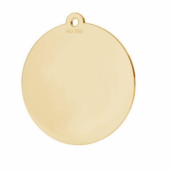 Runden anhänger*gold 585*LKZ14K-50088 - 0,30 18x19,5 mm