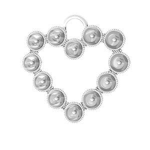 Herz anhänger Swarovski pearls, ODL-00789 24x24,5 mm (5818 MM 4)