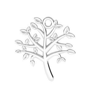 Baum des lebens anhänger, silber 925, ODL-00764 21,5x21,5 mm