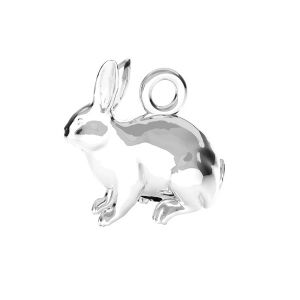 Hase anhänger*Silber 925*ODL-00776 11,1x11,2 mm