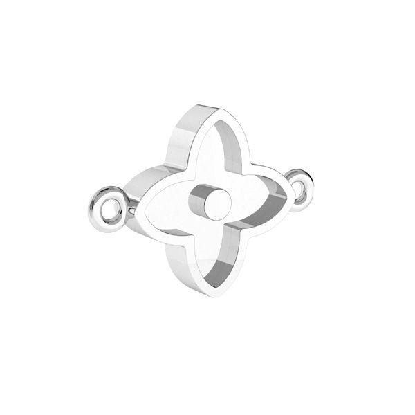 Blume, Anhänger für Harz*silber 925*CON 2 ODL-00779 10,5x14,1 mm