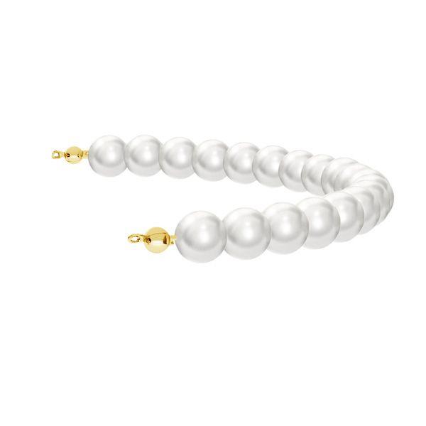 Modul mit 19 Swarovski Perlen 8mm*sterling silber 925*EL 24 8x175 mm