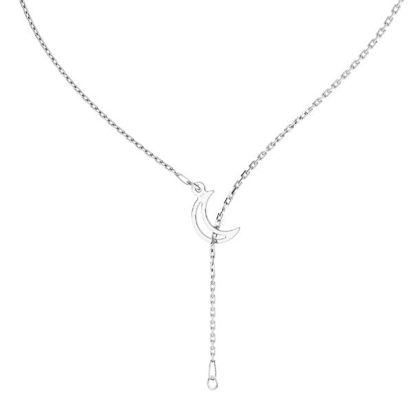 Halskette mond base, sterling silber 925, CHAIN 39 (A 030)