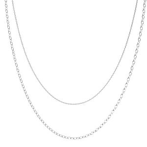 Halskette base, sterling silber 925, CHAIN 46 (A 030 / A 050)