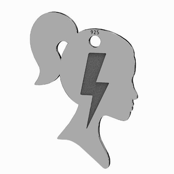Blitz anhänger*silber 925*LKM-2828 - 0,50 14,8x21,3