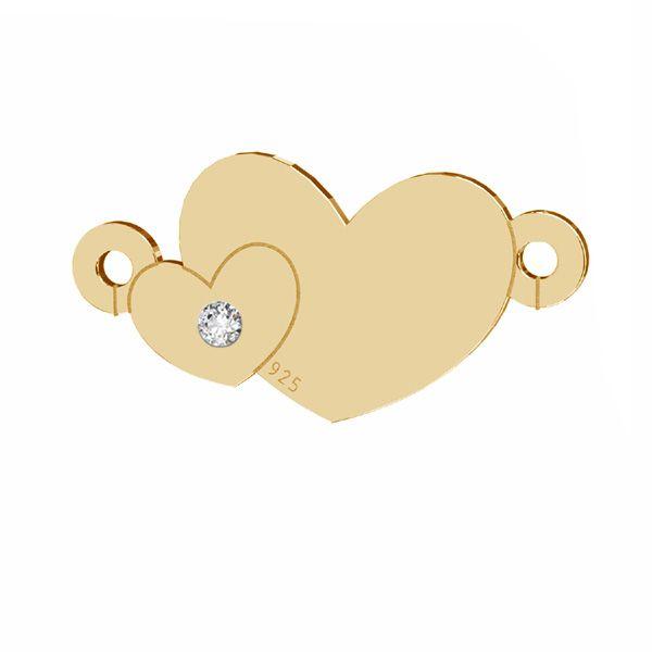 Herz anhänger mit Diamant, silber 925, LKM-2791 - 0,80 8,7x17 mm (ULTRA SKIN PACK)