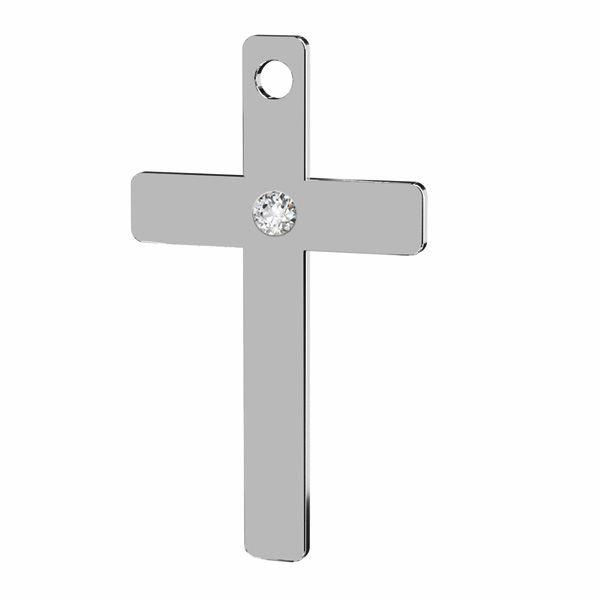 Kreuz anhänger mit Diamant, silber 925, LKM-2789 - 0,80 9,7x16,7 mm (ULTRA SKIN PACK)
