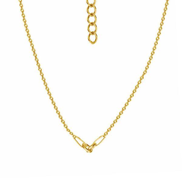 Kette basis für armband, sterling silber 925, A 030 CHAIN 47 41 + 4 cm