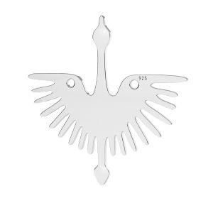 Vogel anhänger, silber 925, LKM-2824 - 0,50 25x25 mm
