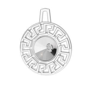Griechisches Labyrinth anhänger Swarovski Rivoli 6 mm*sterling silber 925*ODL-00838 14x17,5 mm (1122 SS 29)