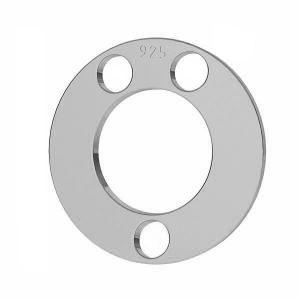 Runden anhänger, silber 925, LKM-2892 - 0,80 5x5 mm
