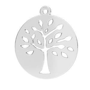 Baum anhänger, silber 925, LKM-2626 - 0,50 16x17,5 mm