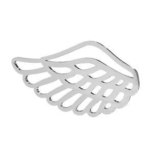 Flügel anhänger, sterling silber 925, LKM-2753 - 0,50 16,1x30 mm