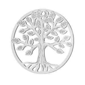 Baum anhänger, silber 925, LKM-2939 - 0,50 19x19 mm