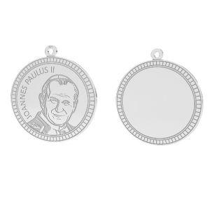 Papst Johannes Paul II anhänger, sterling silber 925, LKM-2946 - 0,50 25x25,5 mm