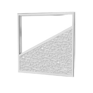 Quadrat anhänger, silber 925, LKM-2748 - 0,50 17x17 mm