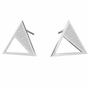 Dreieck ohrringe, silber 925, KLS LKM-2750 - 0,50 11,3x13,1 mm