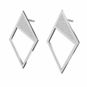 Rhombus ohrringe, silber 925, KLS LKM-2751 - 0,50 11x19,2 mm