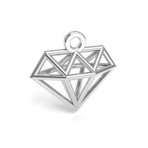 Origami Diamant anhänger, silber 925, CON 1 E-PENDANT 653 11,9x12,6 mm