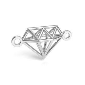 Origami Diamant anhänger, silber 925, CON 1 E-PENDANT 654 9,55x17,6 mm