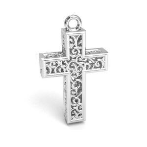 Kreuz anhänger, silber 925, CON 1 E-PENDANT 657 11,8x19,8 mm