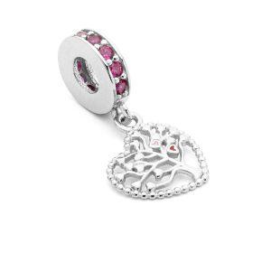Runde Perlen Traumfänger*silber 925*BDS-00007 12x24 mm