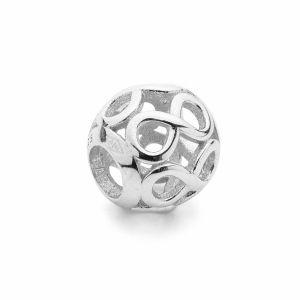 Runde Perlen Traumfänger*silber 925*BDS-00010 9,5x10,5 mm