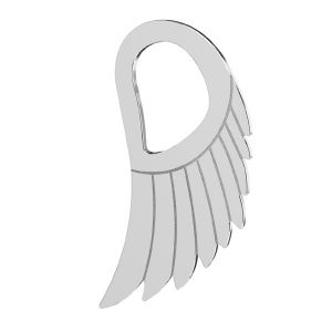 Flügel anhänger, sterling silber 925, LKM-2221 - 0,50 8,8x15 mm