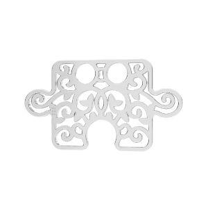 Puzzle anhänger*Sterlingsilber 925*LKM-2639 - 0,50 11x19 mm