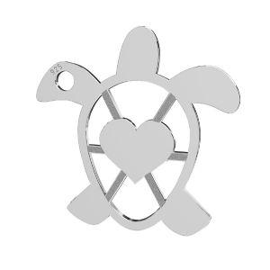 Schildkröte anhänger, silber 925, LKM-2192 - 0,50 16,3x16,3 mm