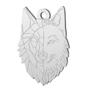 Wolf anhänger silber, LKM-2223 - 0,50 14x20 mm