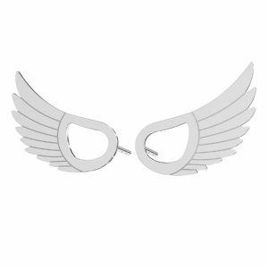 Flügel ohrringe*sterling silber 925*KLS LKM-2961 - 0,50 8,8x15 mm