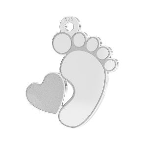 Babyfüße anhänger*silber silber 925*LKM-2644 - 0,50 13x14,7 mm (2808 mm 6)