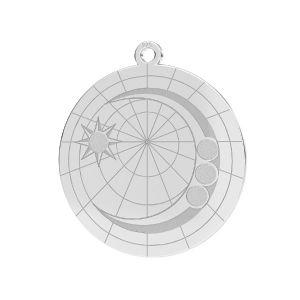 Mond anhänger*silber 925*LKM-2625- 0,50 22x23,5 mm